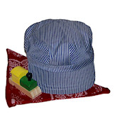 RTD-1425 - Childs Train Party Hat w/ Scarf and Train-shaped Whistle