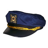 RTD-1426 - Deluxe Youth Navy Blue Yacht Captains Sailor Hat - Adjustable