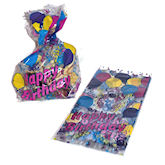 RTD-1482 - Cellophane Happy Birthday Goody Bags