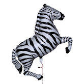 RTD-1503 - 42 inch Black Stripes Zebra - Mylar Balloon