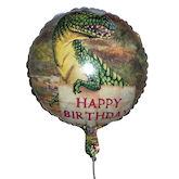 RTD-1517 - 18 inch Happy Birthday T-rex Dinosaur Mylar Balloon