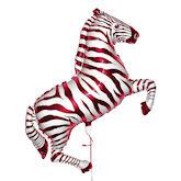 RTD-1520 - 42 inch Pink and White Zebra - Mylar Balloon