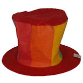 RTD-1539 - Big Colorful Felt Top Hat for Adult Clowns