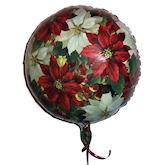 RTD-1548 - 18 inch Christmas Poinsettas Mylar Balloon