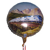 RTD-1553 - 18 inch Amtrak Train Party Mylar Balloon