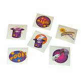 RTD-1562 - 72 pack of Magic Birthday Party Tattoos
