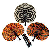 RTD-1660 - Jungle Safari Zoo Animal Print Folding Fan