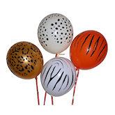 RTD-1688 - Safari Jungle Zoo Animal Print Balloons