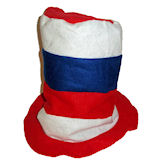 RTD-1723 - Felt Stovepipe Hat - Red, White, Blue