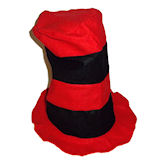 RTD-1727 - Felt Stovepipe Hat - Red, Black