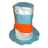 RTD-1729 - Felt Stovepipe Hat - Blue, White, Orange