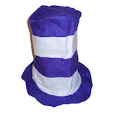 RTD-1730 - Felt Stovepipe Hat - Purple, White
