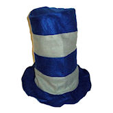 RTD-1731 - Felt Stovepipe Hat - Blue, Gray