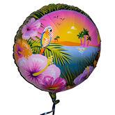 RTD-1753 - 18 inch Tropical Luau Party Mylar Balloon