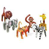 RTD-1785 - 6-pack Inflatable Jungle Safari Zoo Animals