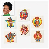 RTD-1886 - 36-pack of Circus Carnival Party Tattoos