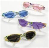RTD-1887 - Plastic Butterfly Print Sunglasses