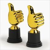 RTD-1972 - Thumbs Up Award Trophy