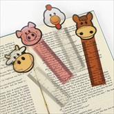 RTD-1985 - Plastic Farm Animal Bookmarks