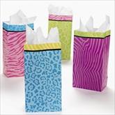 RTD-2055 - Colored Safari Animal Print Treat Bags