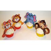 RTD-2073 - Jungle Safari Zoo Animal Cupcake Picks