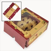 RTD-2086 - Fall Leaves and Pumpkin Pattern Thanksgiving Pie Box