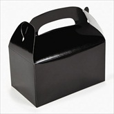 RTD-2140 - Black Treat Boxes for Party Favors