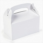 RTD-2141 - White Treat Boxes for Party Favors