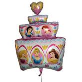 RTD-2442 - 28 inch Disney Princess Birthday Cake Mylar Balloon