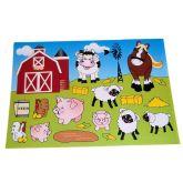 RTD-2474 - 12-pack of Farm Barnyard Make A Scene Sticker Sheets
