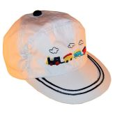 RTD-2508 - Train Hat for Toddlers - White - Small