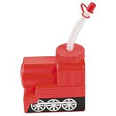 RTD-2550 - Plastic Train Shaped Cup with Screw-on Lid