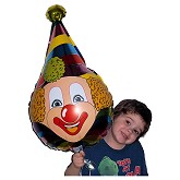 RTD-2578 - 28 inch Pointed Hat Circus Clown Mylar Foil Balloon