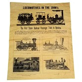 RTD-2592 - Locomotives in the 1800's - Mini Railroad Train Historical Poster