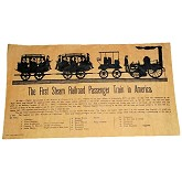 RTD-2593 - First Steam Railroad 1831 - Mini Historical Poster for Train Enthusiasts