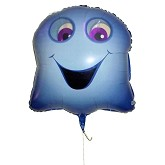 RTD-2642 - Giant Happy Ghost Halloween Balloon with Moving Eyes