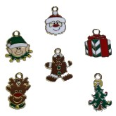 RTD-2663 - Christmas Holidays Enamel Metal Charms