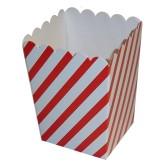 RTD-2668 - Mini Red White Striped Popcorn Box