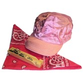 RTD-2670 - Pink Train Engineer Party Set w/ Hat, Whistle, Scarf