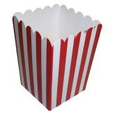 RTD-2692 - Red Striped Mini Popcorn Box