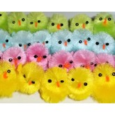 RTD-2699 - Fuzzy Soft Colored Baby Chicks