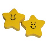 RTD-2770 - Smiley Happy Face Yellow Rubber Star Eraser