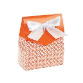 RTD-2794 - Small Cardboard Orange Tent Favor Box w/ Bow