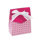 RTD-2796 - Small Cardboard Hot Pink Tent Favor Box w/ Bow