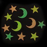 RTD-2841 - Plastic Glow-in-the-Dark Stars and Moons