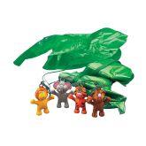 RTD-2850 - Vinyl Jungle Zoo Animal Paratroopers Parachute Figure