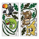 RTD-2865 - 19 Piece Set of Large Vinyl Safari Wall Decorations