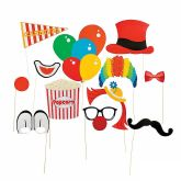 RTD-2964 - 12-Pack of Circus Carnival Stick Clown Costume Props for Photos
