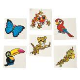 RTD-2992 - 36-pack of Rainforest Jungle Animal Creature Tattoos
