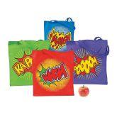 RTD-3173 - Large Polyester Superhero Tote Bag